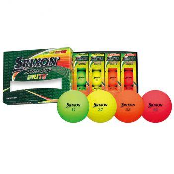 Srixon Tri-Star Brite Golf Ball - Dozen - Limited Edition