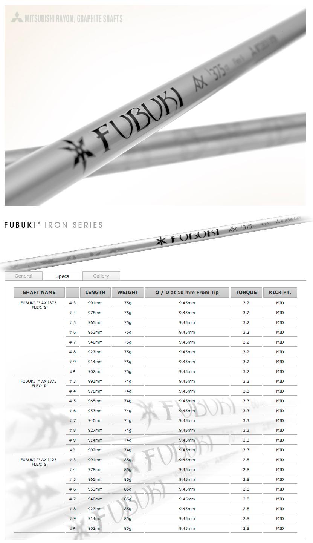 Fubuki AX Iron shafts