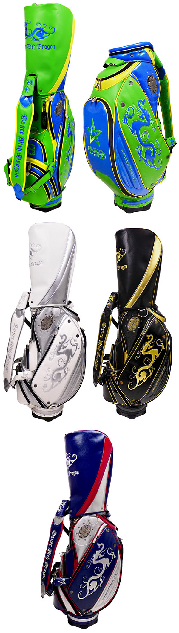 Dance With Dragon Spring Summer Metal Plate Caddy Bag