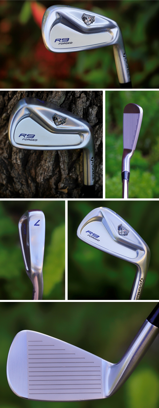 Taylormade R9 TP Forged Iron Copper Satin Blue Finish by TSG Club Works
