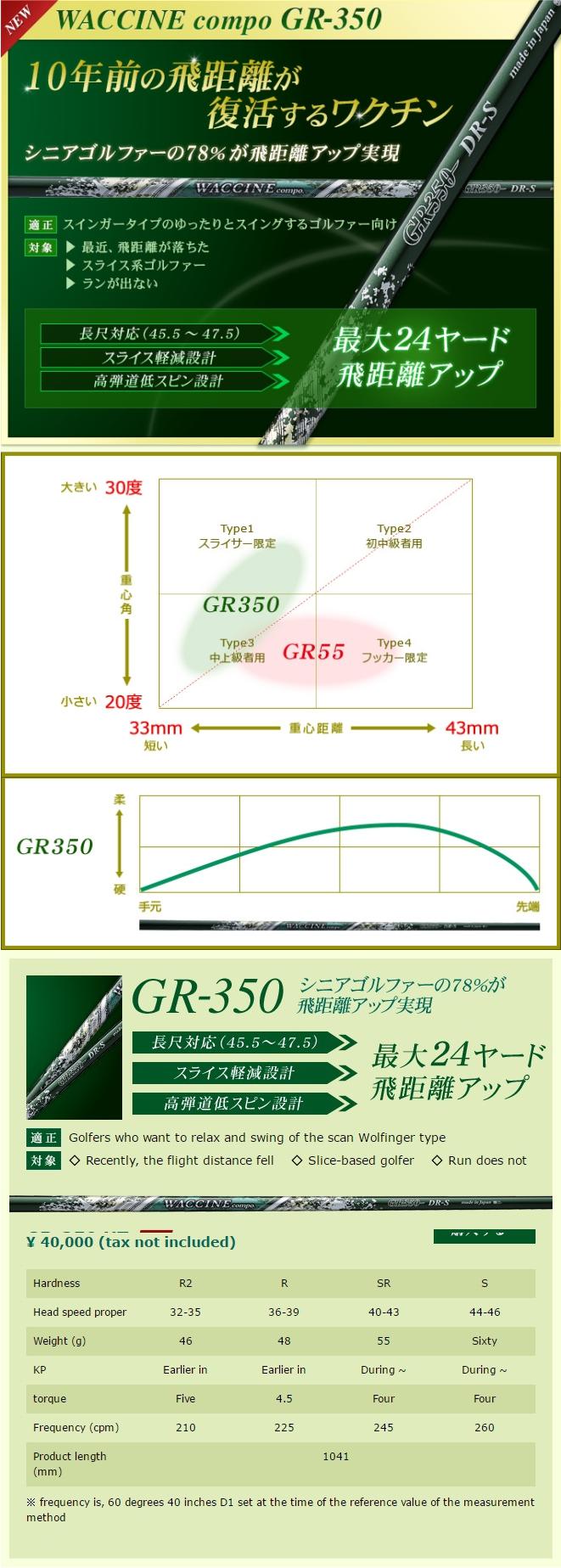 Waccine Compo GR-350 Utility Shaft