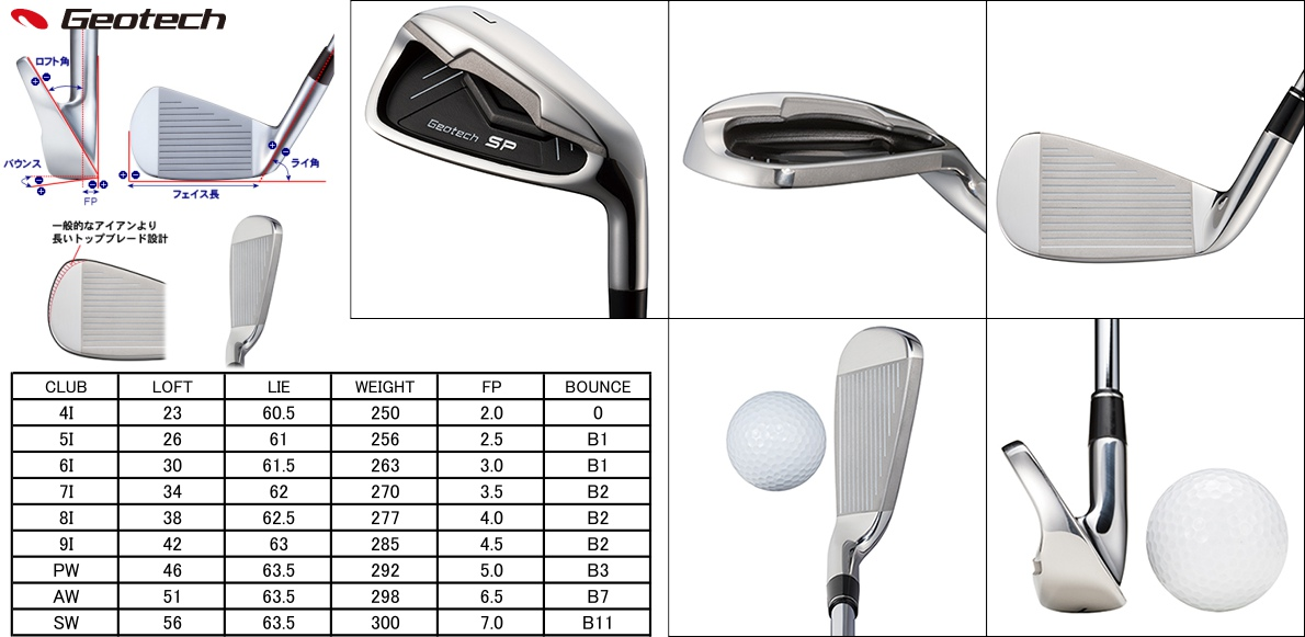 Geotech SP3 Irons