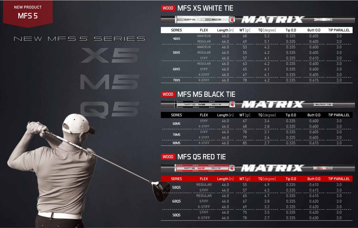Matrix MFS X5 White Tie Shaft