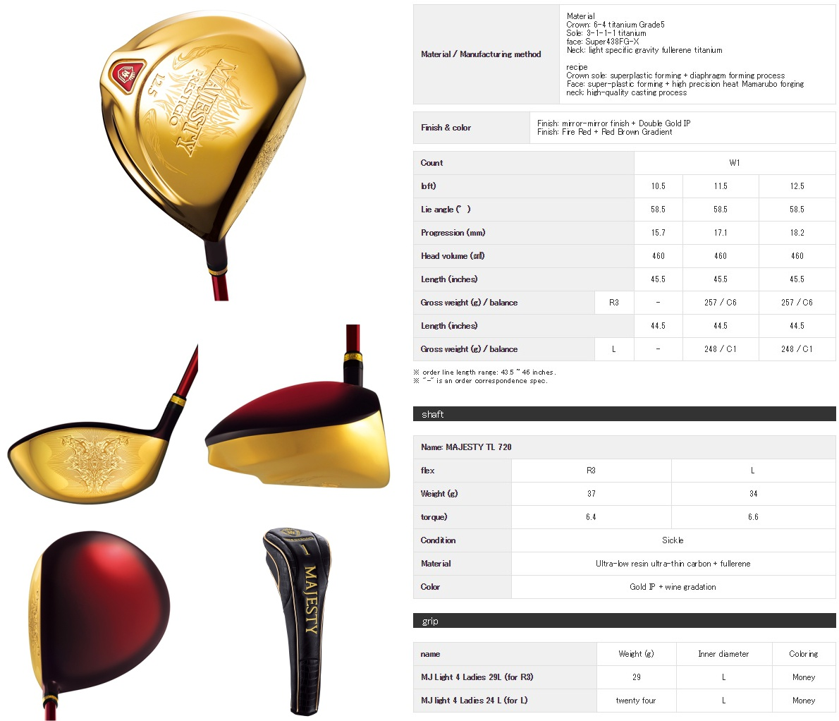 Maruman Majesty Prestigio 9 Ladies Driver