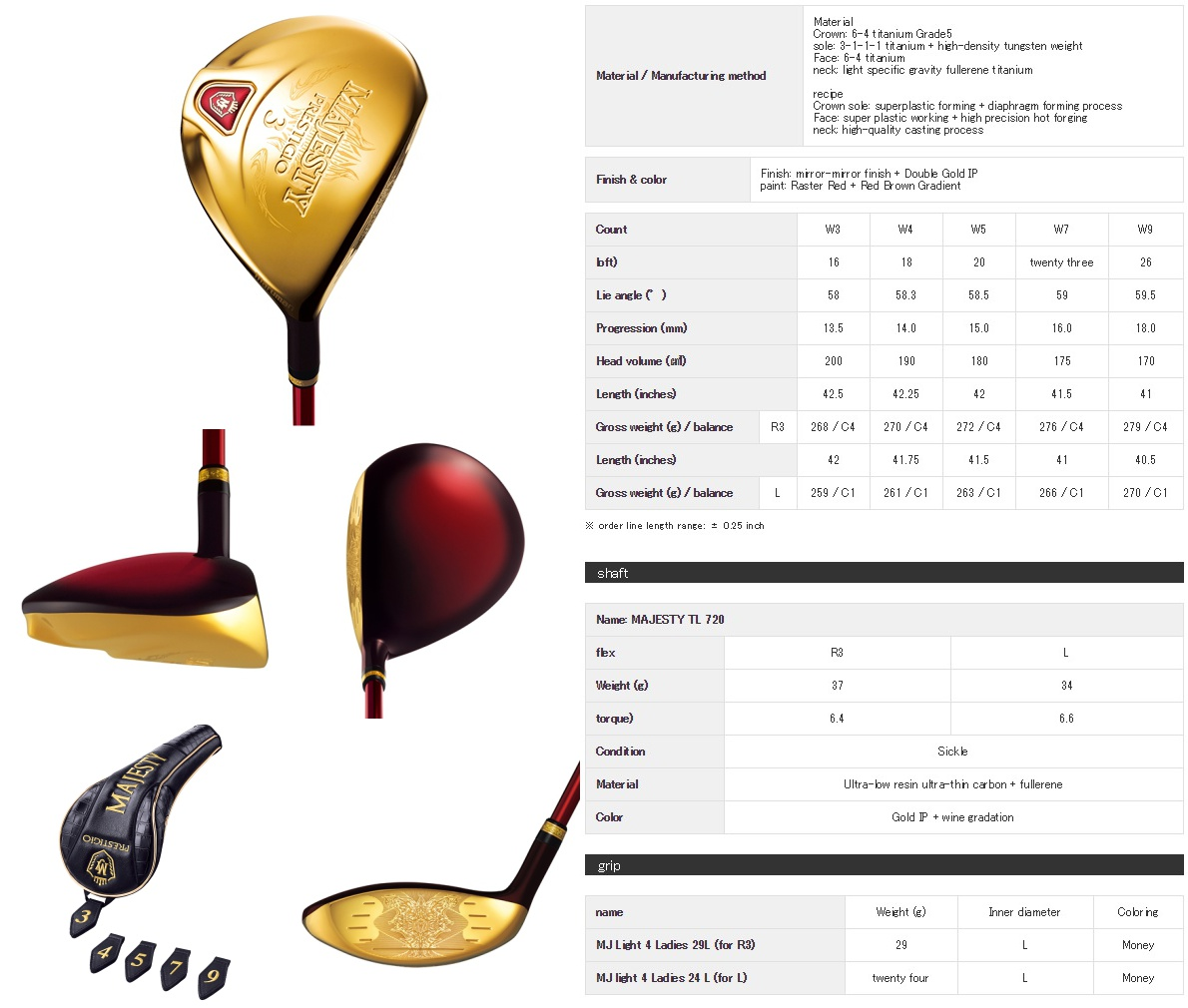 Maruman Majesty Prestigio 9 Ladies Fairway Wood