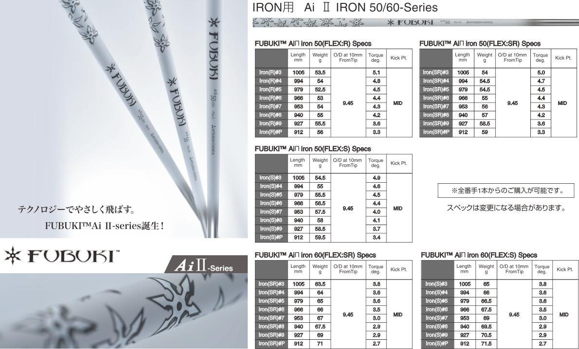 Mitsubishi Rayon Fubuki Ai Ⅱ Iron Shaft Set
