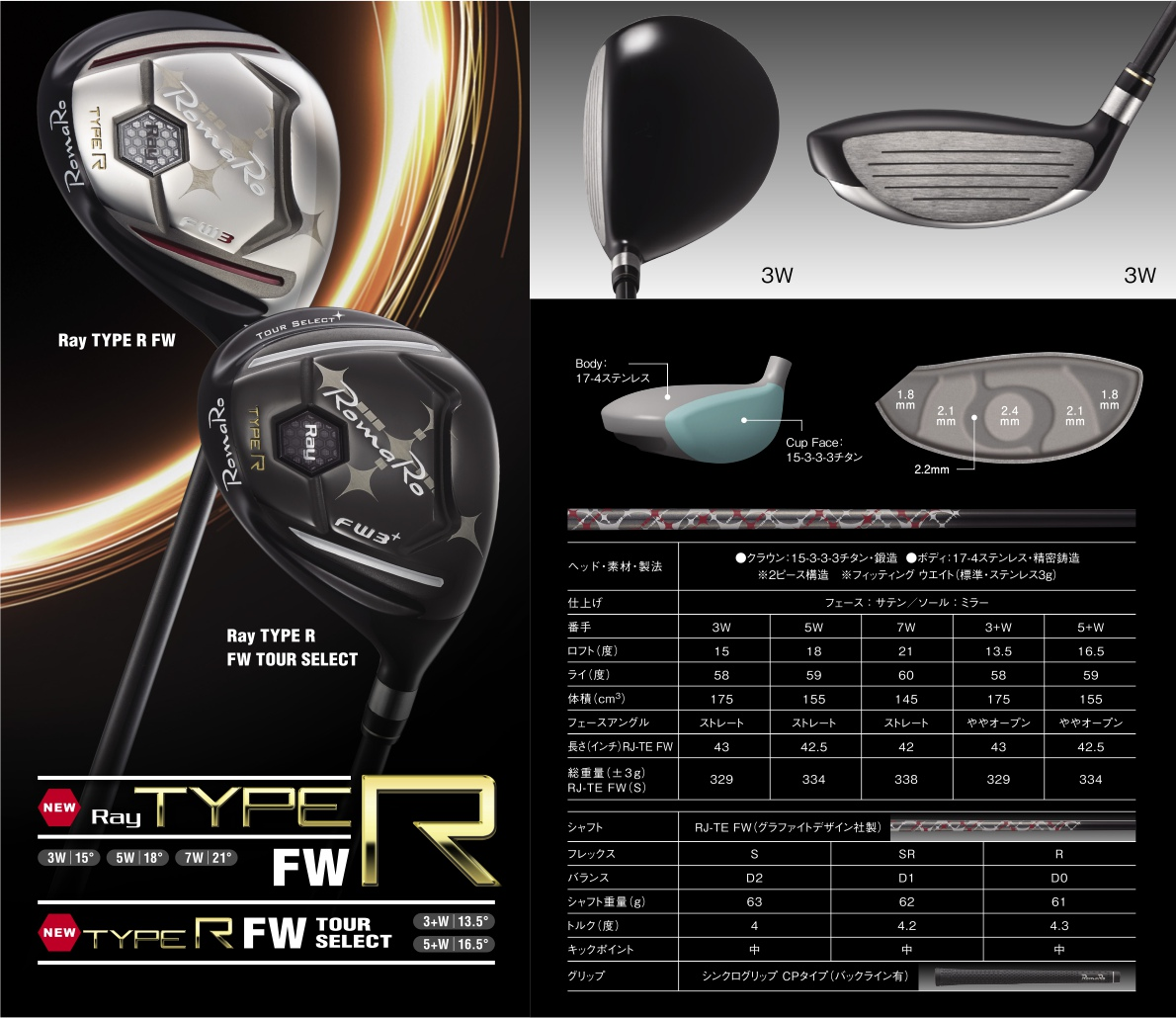 Romaro Ray Type-R Fairway Wood 2017