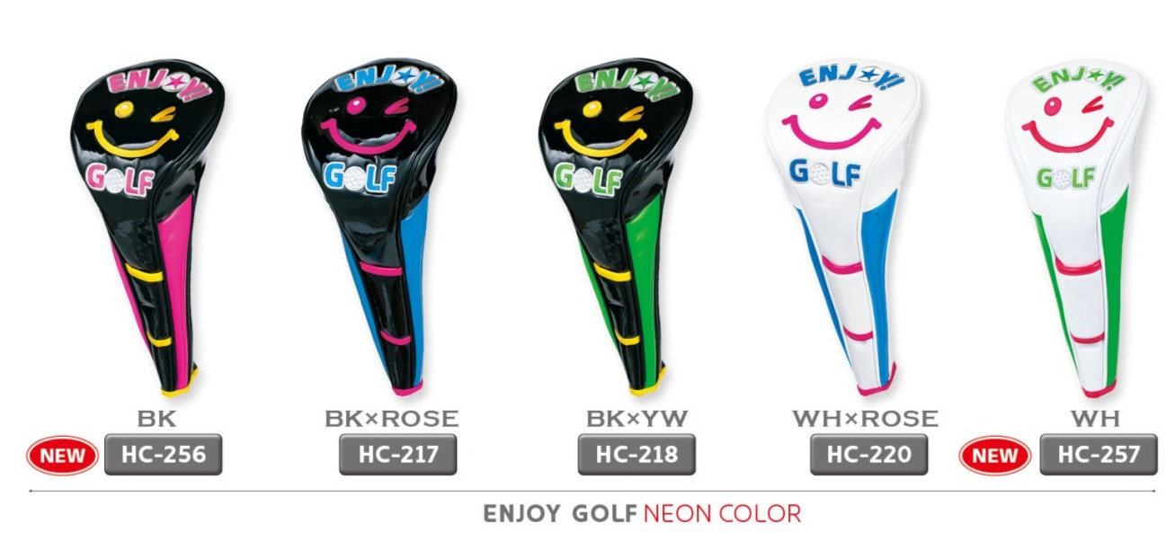 WinWin Style Enjoy Golf Neon Color Driver Head Cover