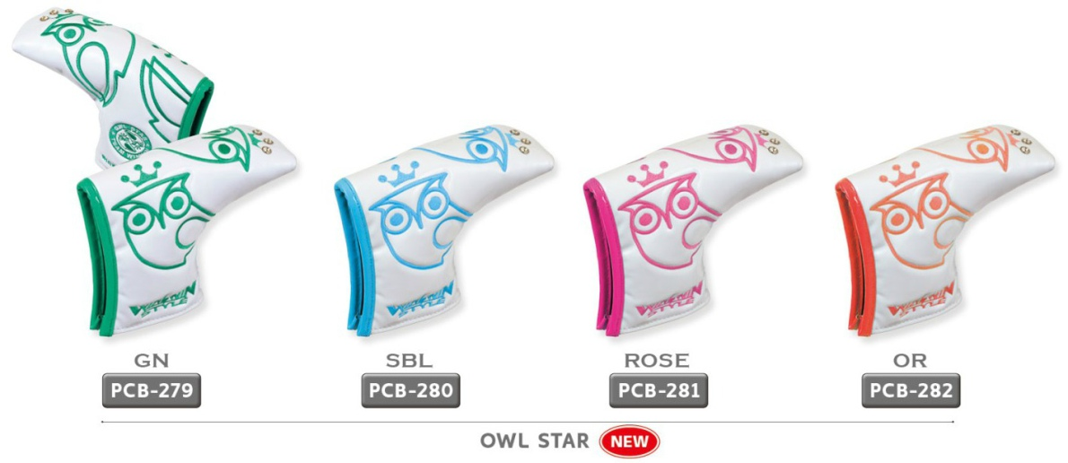 WinWin Style Owl Star Putter Head Cover
