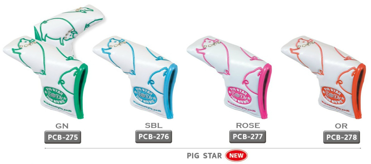 WinWin Style Pig Star Putter Head Cover