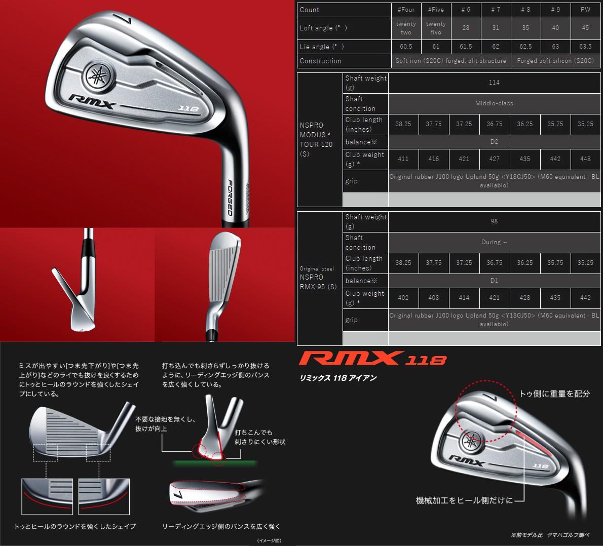 Yamaha RMX 118 Irons