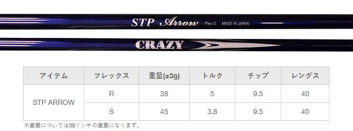 Crazy STP Arrow Iron Shaft Set