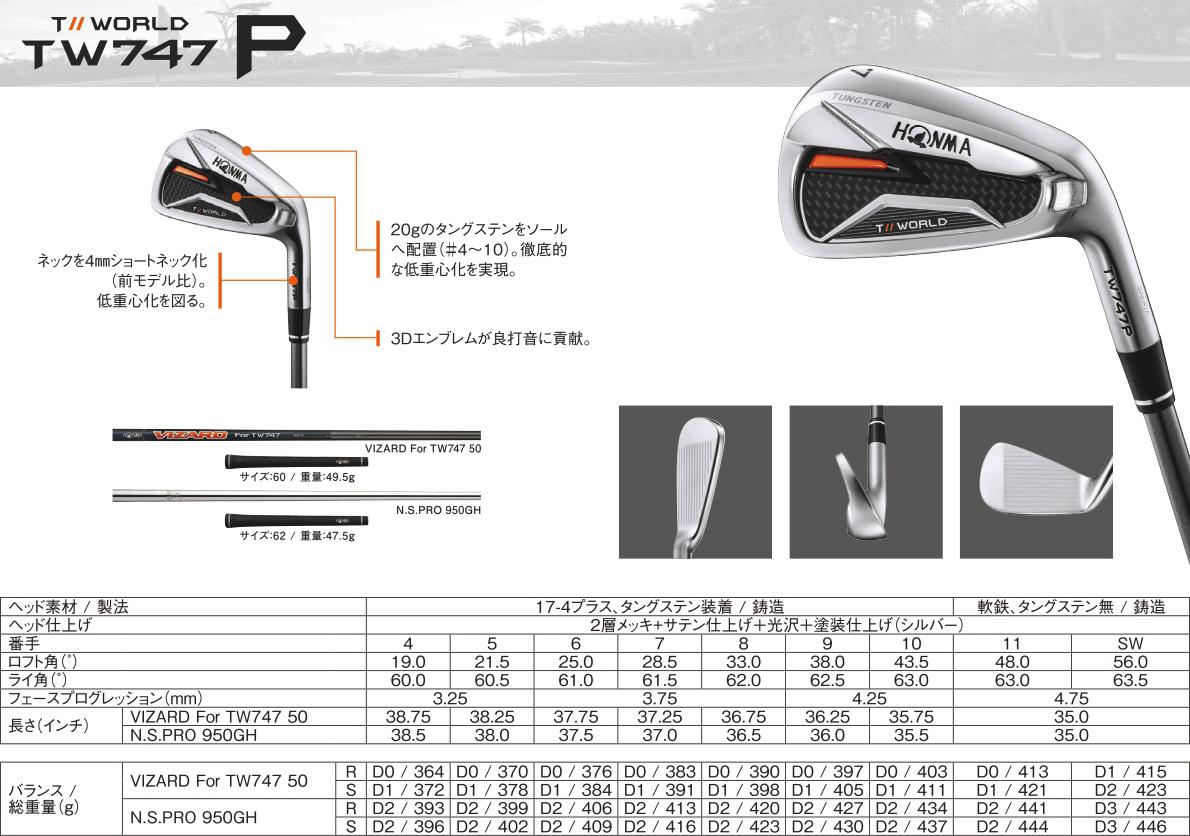 Honma Tour World TW747P Iron