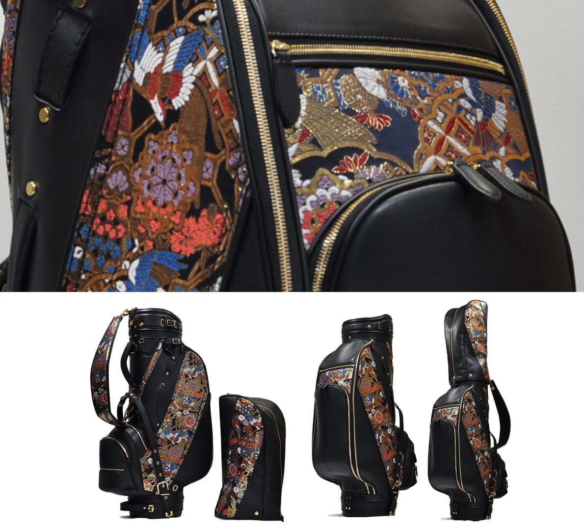 Michibiki Phoenix Nishijin-Ori Sheep Leather Caddy Bag