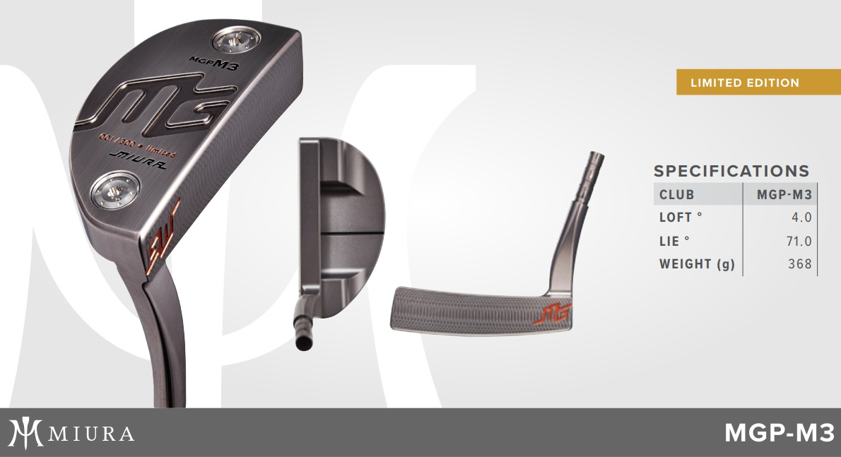 Miura MGP-M3 Putter Limited Edition