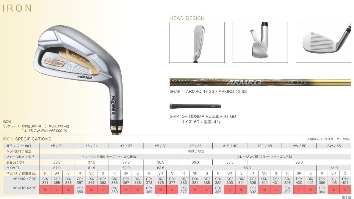 New Honma Beres 2020 Iron
