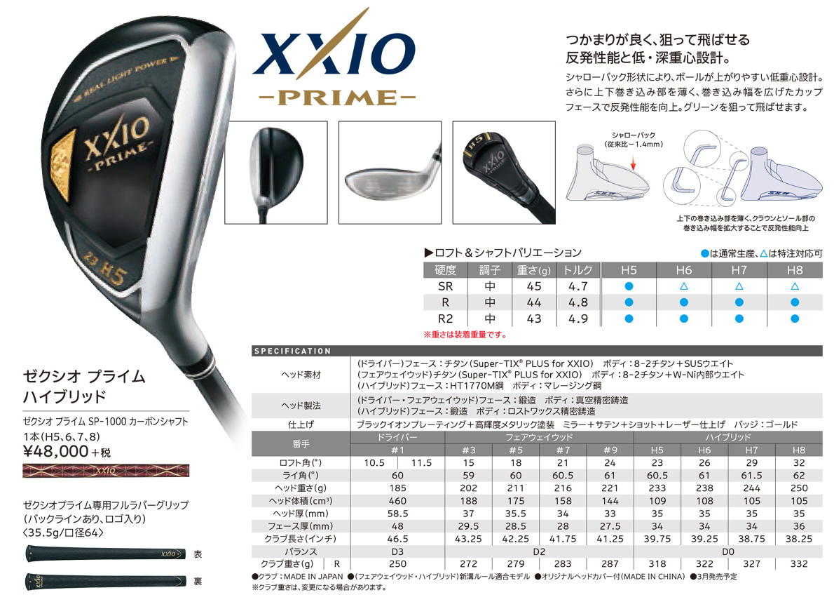 XXIO Prime Hybrid Utility 2019 - JDM Version