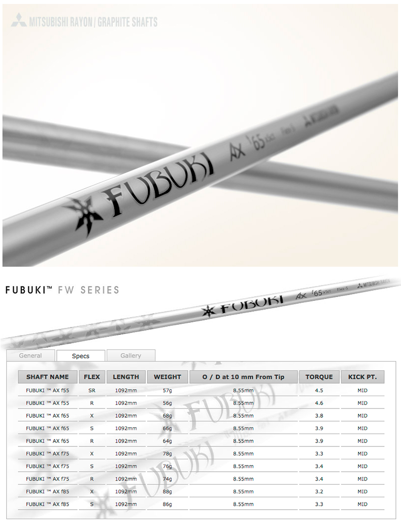 Mitsubishi Rayon Fubuki AX Fairway Wood Shaft