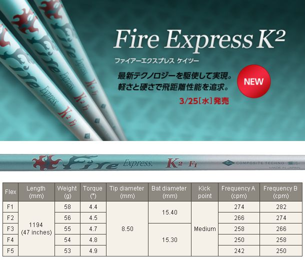 Fire Express K2 Shaft
