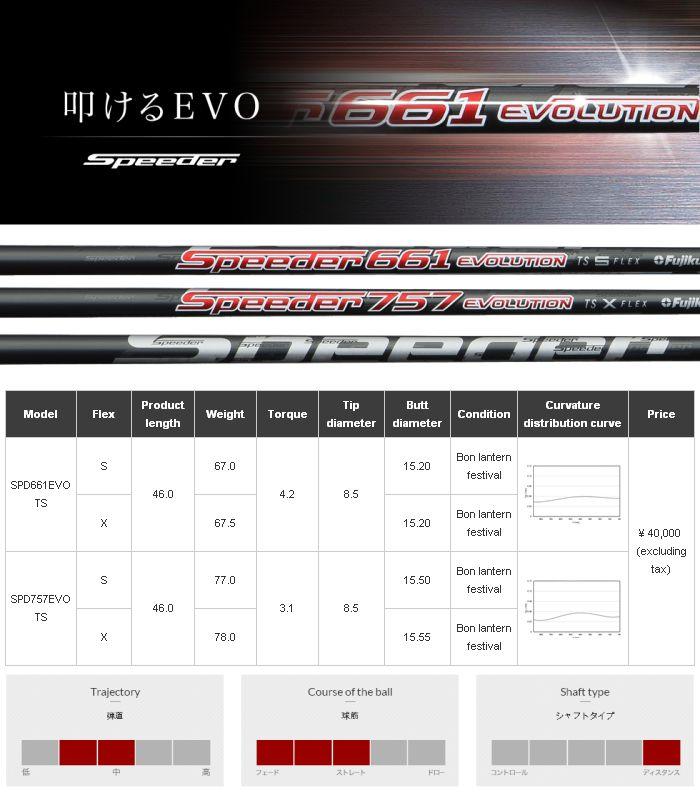 Fujikura Speeder Evolution Ts Shaft
