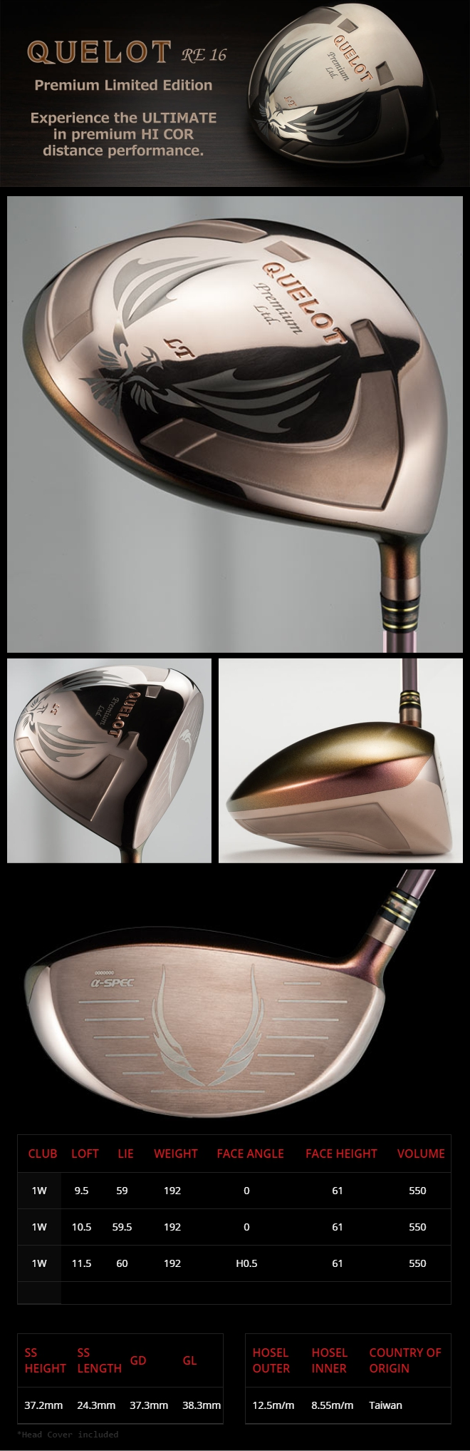 Geotech Quelot RE16 a-SPEC Premium Limited Driver