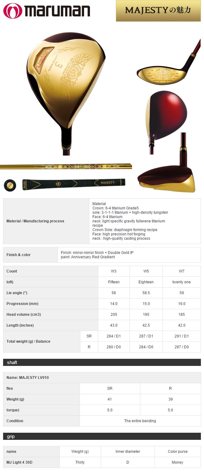 Maruman Majesty 45th Anniversary Fairway Wood Limited Model