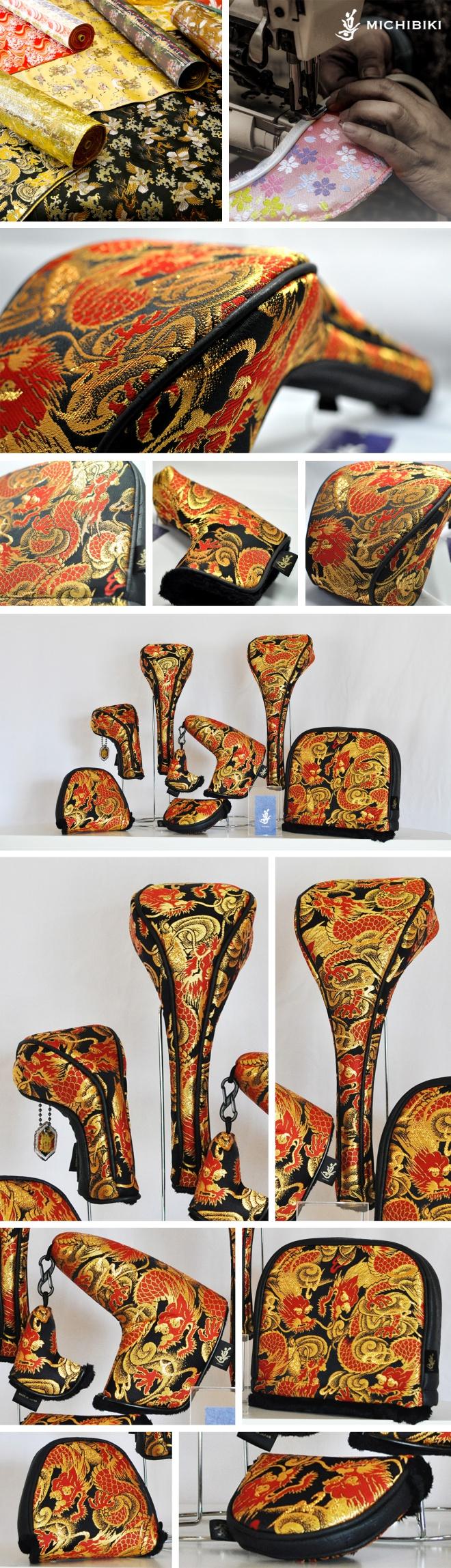 Michibiki Brocade Red Dragon Head Cover