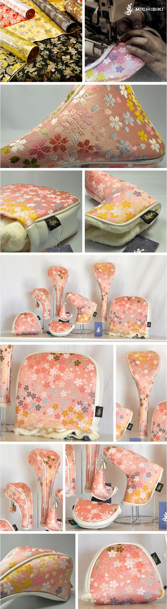 Michibiki Brocade Sakura Full Bloom Head Cover