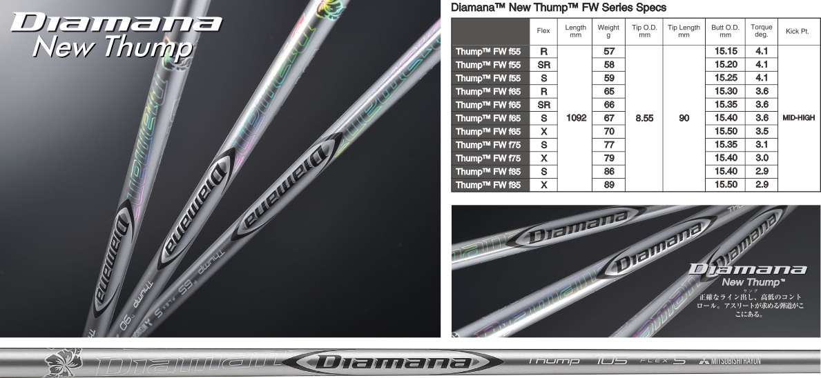 Mitsubishi Rayon Diamana New Thump Fairway Wood Shaft