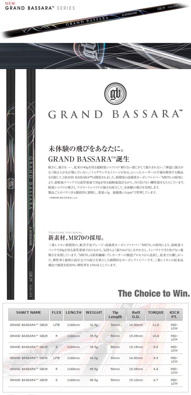Mitsubishi Rayon Grand Bassara Series Shaft
