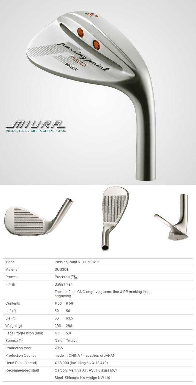 Miura Passing Point Neo PP-W01 Wedge