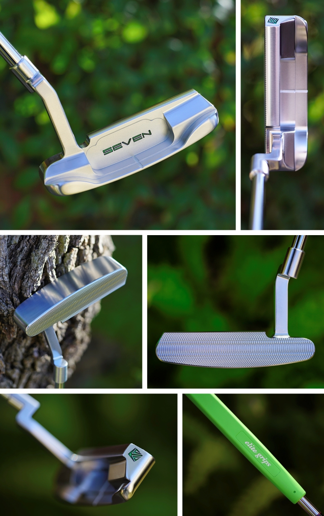 SEVEN Blank Sole Proto Green Putter With Green Elite Grip