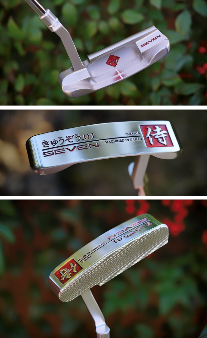 SEVEN Kyuzo Red with Polished Sole Putter