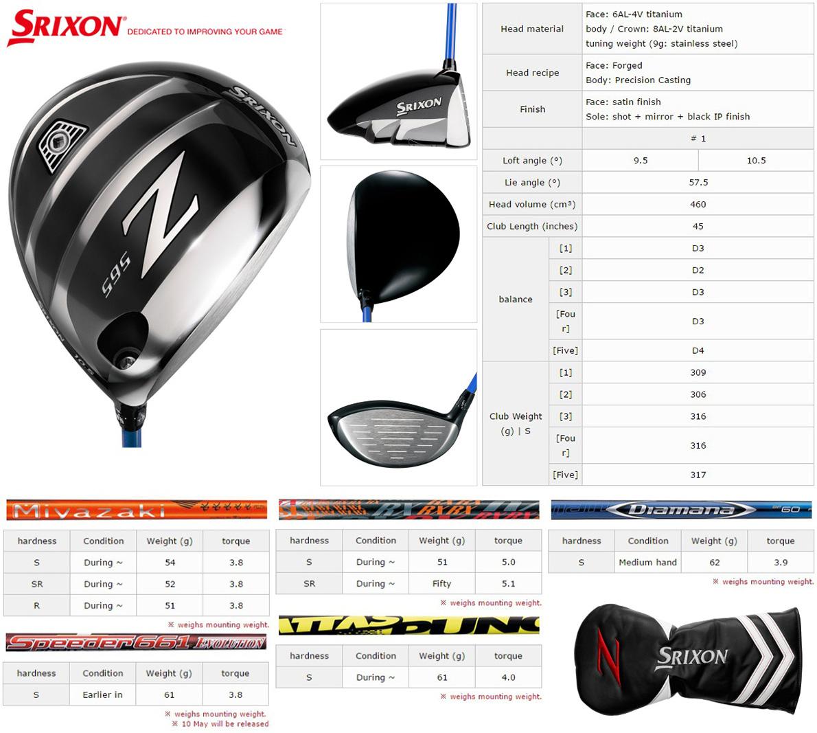 Srixon Z565 Driver
