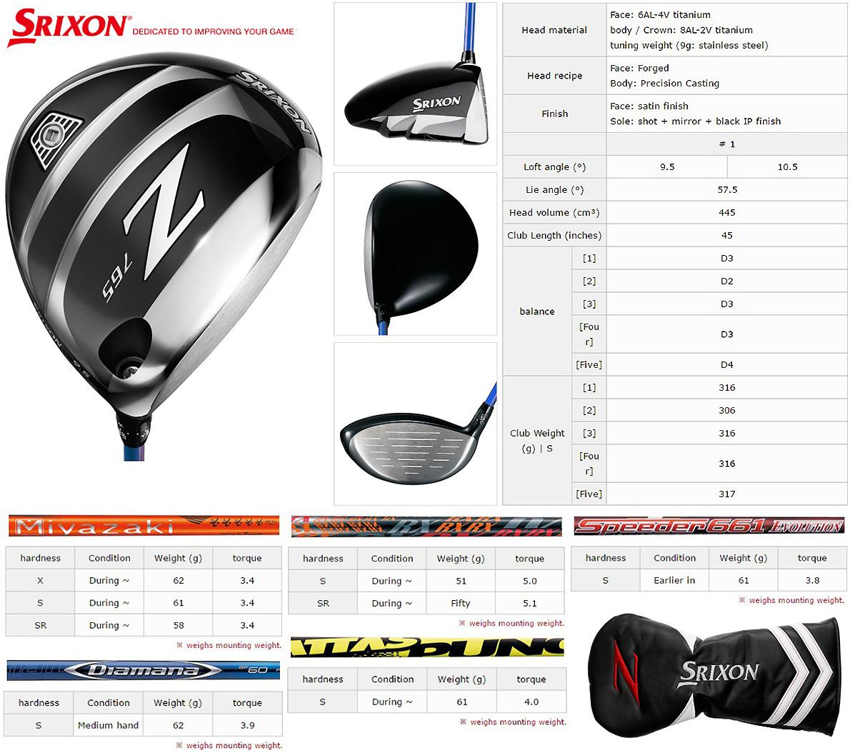 Srixon Z765 Driver