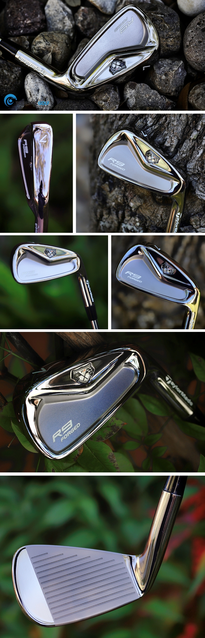 Taylormade R9 TP Forged Iron Black Mirror Finish by TSG Club Works