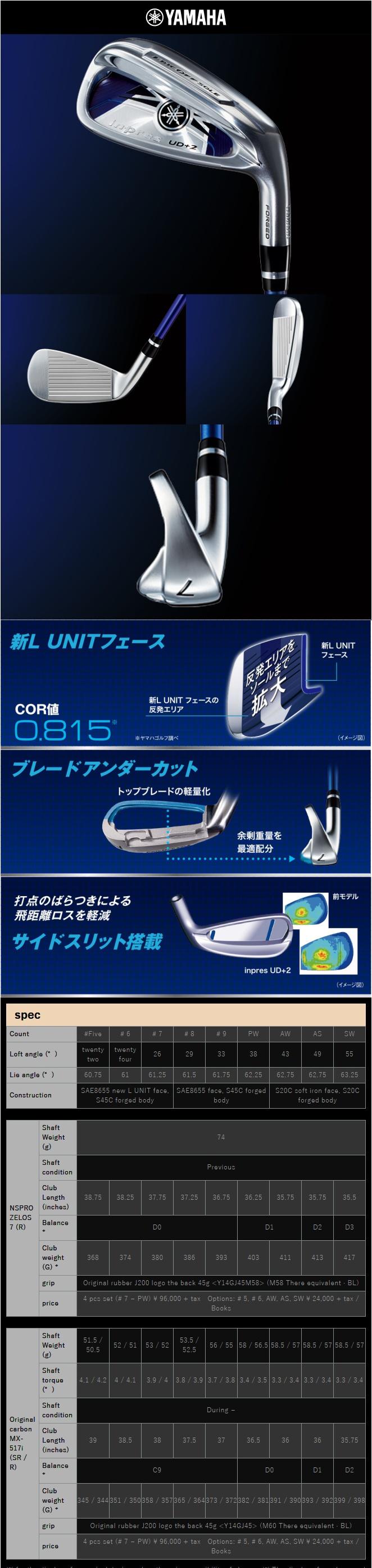 Yamaha Inpres UD+2 Iron